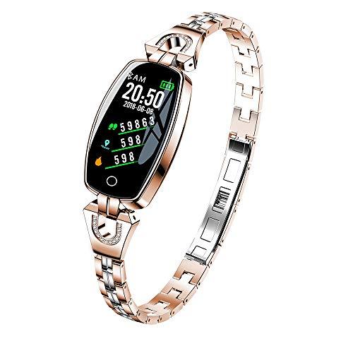 Igemy 2018 Super Luxury Intelligent Wristband mit Bunten Bildschirm Blutdruck/Pulsmesser Smart Armband Uhr Schrittzähler (Rosegold)