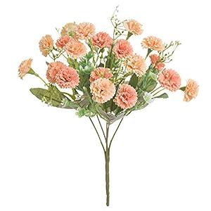 MMI-LX PYCONG 20 Heads Artificial Lilac White Silk Flower Bouquet, Home Garden Christmas Party Wedding Wreath
