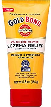 Gold Bond Eczema Relief Cream 2% Colloidal Oatmeal 5.5 oz Pack of 2