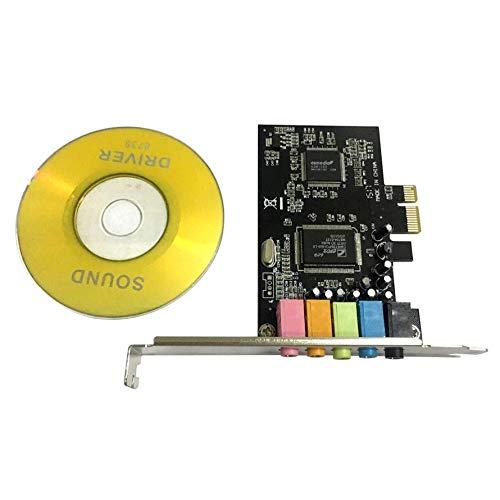 HoganeyVan PCI-E PCI Express 6 canali 5.1 CMI8738 Scheda Audio Audio Computer PC Compatibile per Windows Scheda di Estensione della Scheda Audio ordinaria