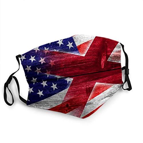 Kartellschutz-Mundschal,Usa Und Alabama State Flag Gemalt Auf Alten Holzplanken Textur Gesicht Nase Schal, Waschbare Gesicht Schal Für Erwachsene Männer Frauen Radfahren,20X15Cm