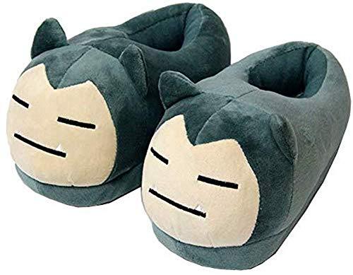 LJTYMM Damen Herbst und Winter Hausschuhe Pokemon Plüsch Schuhe Kabi Beast Hausschuhe aus Baumwolle,35/40