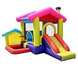 HEMFV Fiesta de los niños hinchables casa, casa de la Despedida Inflable Salto Castillo Hinchable Casa con soplador de Aire, Pre-Kinder Juguetes
