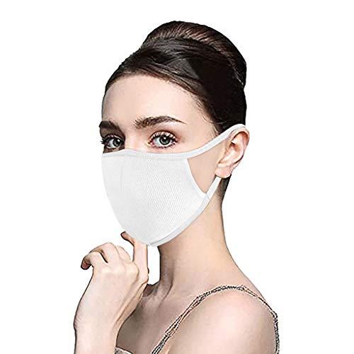 PPangUDing Baumwolle Mundschutz Atmungsaktive Staubdicht Wiederverwendbar Waschbar Bandana Halstuch Schlauchschal Multifunktionstuch für Damen Herren