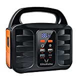 Portable Power Station, Xihababe 155Wh Outdoor Generator, 110V/100W (Peak 150W) Modified Sine Wave...