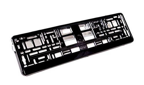 2 x black Brilliant PKW Kennzeichenhalter (schwarz HOCHGLANZ Klavierlack) 520 x 110 mm Kfz Nummernschildhalter (Kennzeichenhalterung)