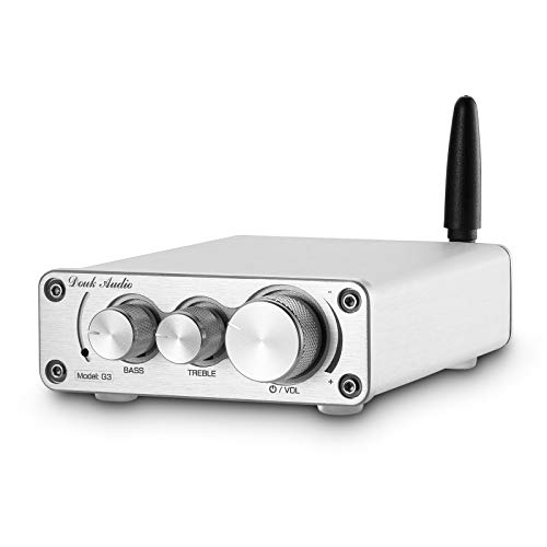 Nobsound TPA3116 Amplificatore di potenza Bluetooth 5.0, ricevitore wireless, mini amplificatore audio per altoparlanti da 3 - 6 pollici 2.0 canali, 100 W (50 W x 2)