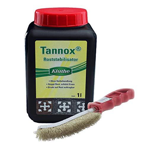 Rostumwandler Set: Kluthe Tannox + Drahtbürste von Schuller (1l + Drahtbürste)