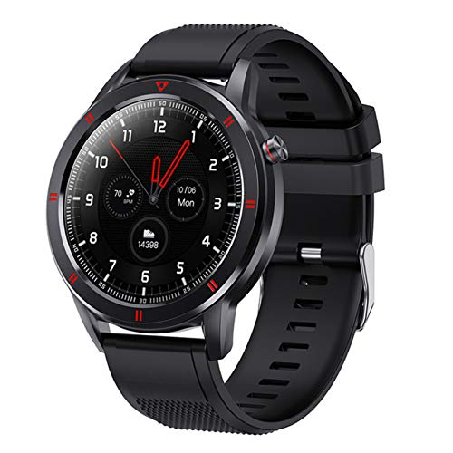 LLTG Juventud1 Smart Watch Full Circular Pantalla Táctil De Moda Smartwatch Fitness Tracker Pulsera Sleep Sleep Monitor De Frecuencia Cardíaca, Adecuado para Android iOS,C