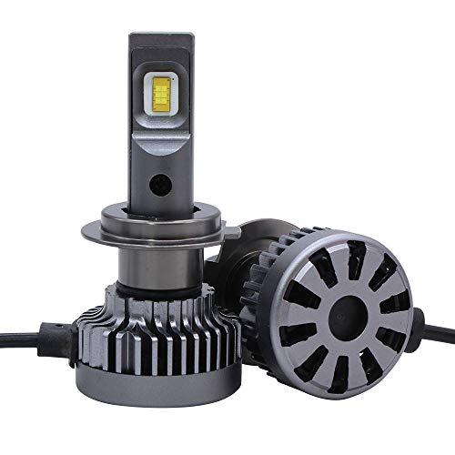 Ensemble de phares de voiture à DEL, aluminium aérospatial 12 remplacement de l'halogène et des halogènes automobile, 24V 3000ML, gris argenté, 1 pièce,H11