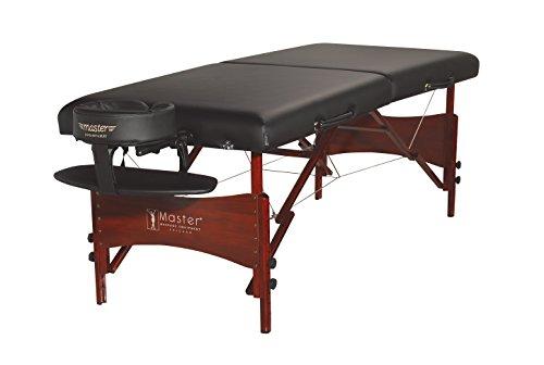 Master Massage 71cm NewPort Mobil tragbar Massageliege Massagebett Massagebank Kosmetikliege America Brand (Schwarz)