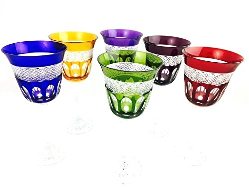 Weingläser handgemacht, Service 6 Gläser (18 cl), Roemer Glaskristall, Unterschrieben und gestempelt Klein 54120 Baccarat, Geschenkidee.