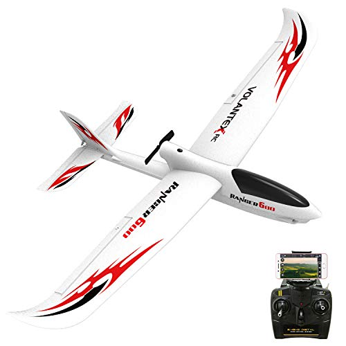 VOLANTEXRC RC Airplane RTF Ranger600 WiFi Version Parkflyer RC Aircraft Plane Ready to Fly with Xpilot Stabilization System, One-Key U-Turn Function Easy to Fly for Beginners (761-2 WiFi)