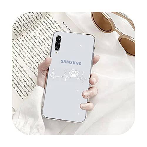 Perro huella de dibujos animados lindo teléfono Fundas transparentes para Samsung A71 S9 10 20 HUAWEI p30 40 honor 10i 8x xiaomi note 8 Pro 10t 11-a1-redmi note 8 pro