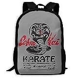 Cobra Kai Mochila escolar ligera impresa resistente al agua, mochila de viaje para...