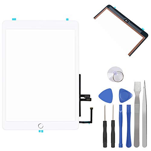 Price comparison product image Touch Screen Digitizer for iPad 6th Generation iPad 2018 Front Glass Replacement with Home Button & Tool Repair Kit (A1893