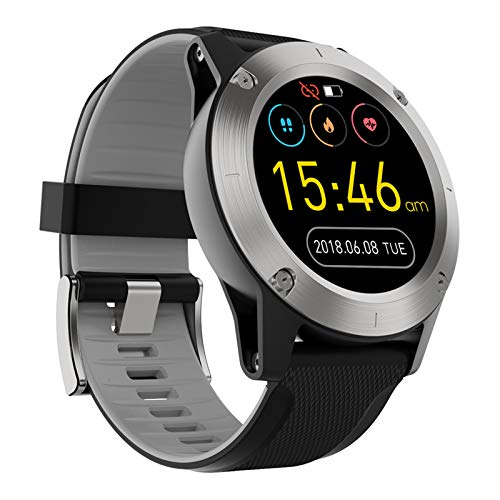XIMULIZI Sport Smart Watch 1,3 Zoll Full-Screen-Männer im Freien Wasserdichten Positionierung Bluetooth Multifunktions,Grau