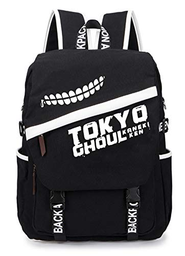 Gumstyle Tokyo Ghoul Anime Cosplay Laptop Backpack Rucksack Schoolbag Book Bag Unisex Student Black