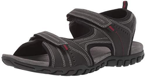 Geox Herren Sandal Mito 5 Sport, Black Oxford, 46 EU