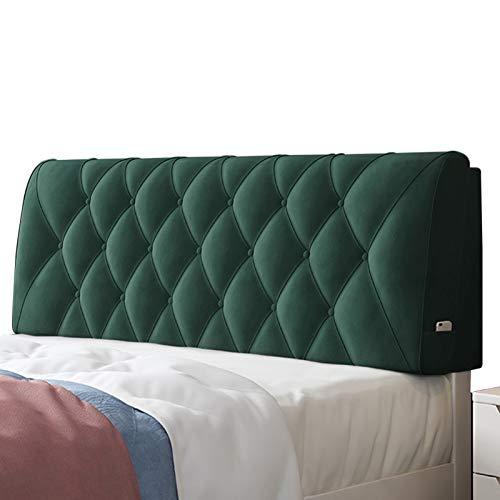LXLIGHTS Bett Kopfteil Kissen, Superfeine Faser Kopfkissen mit Bettkeil, Komfort Verdicken Rückenkissen, Ergonomisches Design zum Schlafzimmer Anpassbar (Color : A-Green, Size : 180X55X10cm)