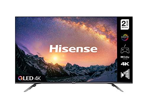 HISENSE 50E76GQTUK QLED Gaming Series 50 Zoll 4K UHD Dolby Vision HDR Smart TV mit YouTube, Netflix, Freeview Play & Alexa integriert, Bluetooth & WiFi, TÜV-Zertifiziert
