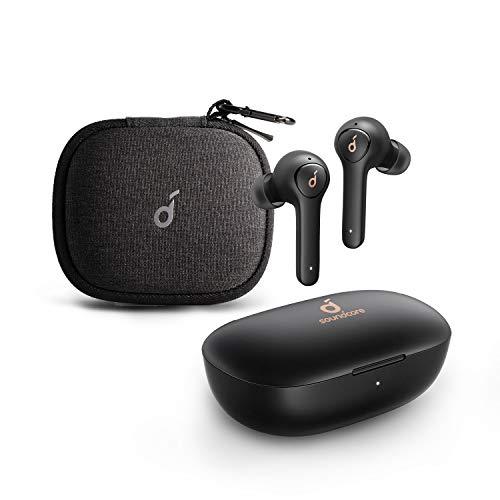 Anker Soundcore Life P2 - Auriculares Bluetooth con Estuche de Viaje, CVC 8.0, Aislamiento de Ruido, Perfil de Sonido cristalino, batería 40H, protección IPX7 del Agua, para Trabajo y Viajes.
