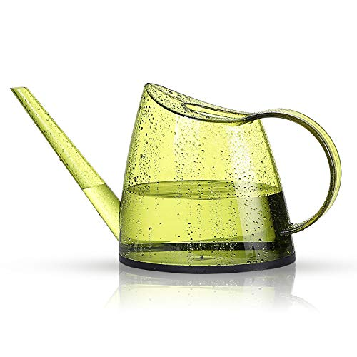 Junyimaoyi Watering Can, Transparent Long Spout Watering Kettle Nordic Style Garden Watering Pot for Indoor and Outdoor Watering Plants and Potted Flowers (1.4L, Green)