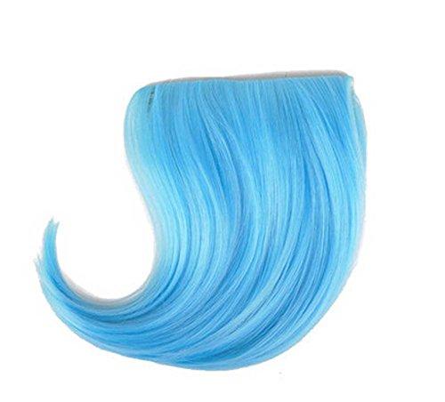 Colorful étape perruque, parti perruque, cheveux Bangs Perruques,Bleu clair