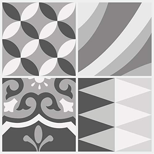 Santa Cruz Fliesenaufkleber für Böden, auch Wände, Fliesenspiegel und Möbel, abziehbar, keine Beschädigung, selbstklebend, für Linoleum- und Vinylböden, plus Keramik, Laminat, mehr