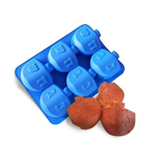 Jewish Innovations Dreidel Molds - Silicone Baking Mold for Muffin, Cupcake & Cookies - Microwave Oven & Freezer Safe - Perfect for Chocolate, Ice Cream & Jello - Jewish Party Favor for Chanukah & Hol