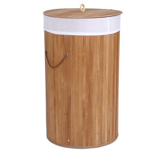 Jago Cesto para Ropa Sucia de Bambú con Bolsa | Capacidad de 70L | Cesta De Ropa, Cubo para Ropa Sucia, Cesto para la Colada, Caja de Almacenaje