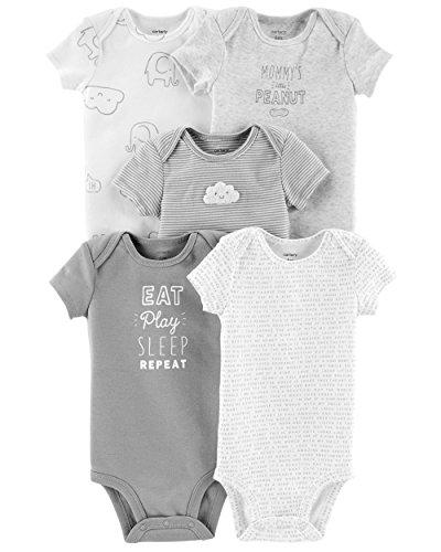 Carter's Baby Strampler für Jungen, 5er-Pack Gr. 24 Monate, Eat Play Sleep Repeat,