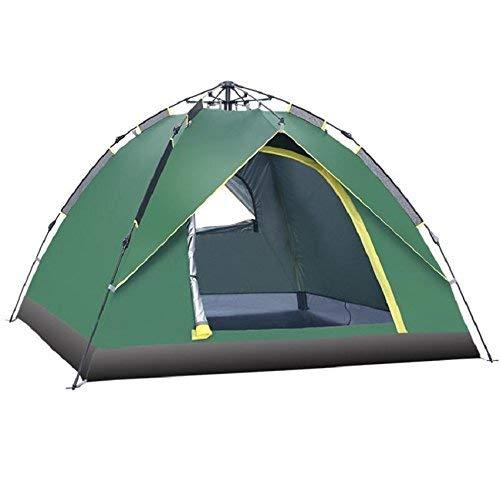 RYP Guo Outdoor Products Outdoor 3-4 Personnes Tentes automatiques, écran Solaire imperméable à l'eau Peinte, tiges de Fibre de Verre télescopique Automatique, Camping tentes,3-4 Personne,Vert