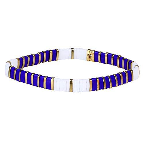 KANYEE Bracelets D'amitié Bracelets Perlés Tila Coloré Bracelets élastique Fait Main pour Femme – 08D