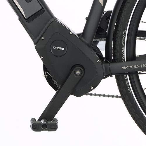 FISCHER Herren – E-Bike Trekking VIATOR 5.0i (2019), grau matt, 28″, RH 50 cm, Brose Mittelmotor 50 Nm, 36V Akku Bild 5*