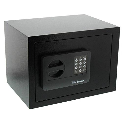 BURG-WÄCHTER Möbeltresor mit Elektronikschloss, inkl. Fachboden, Favor, 17,8 l, 7,0 kg, S5 E, schwarz