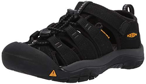 Keen Unisex Kinder Newport H2 Sandale, Schwarz (Black/Keen Yellow), 39 EU