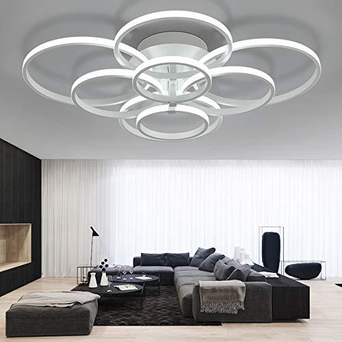 ONLT Plafoniera LED da soffitto,Super-sottile cerchio Soffitto moderni lampadari di luce Luce per soggiorno,sala da pranzo (Bianco freddo, 8 Teste)