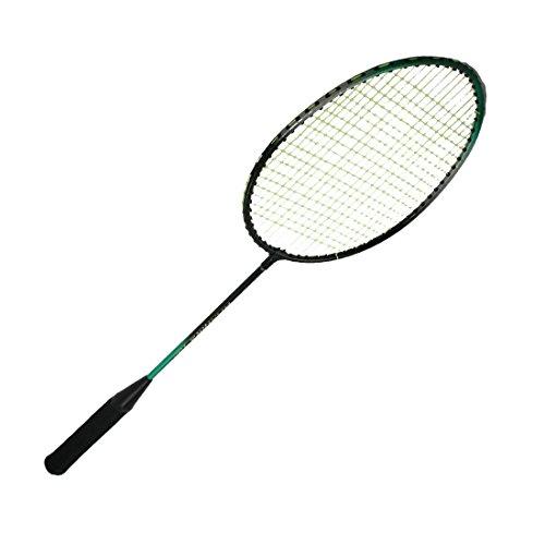2 piezas amarillas con cuerdas metálicas eje de la cabeza raquetas de bádminton Raqueta