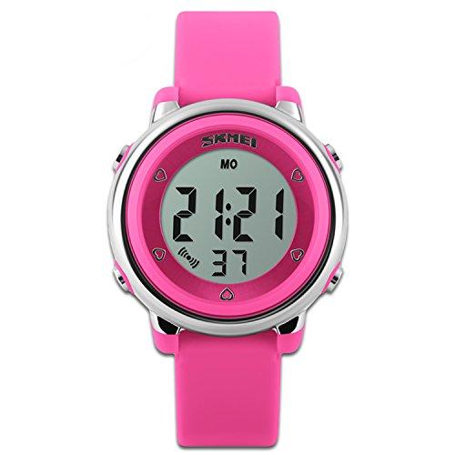 Reloj Deportivo para niños con función de cronómetro y retroiluminación LED, Reloj para niños con Correa de Silicona, Reloj para niños y niñas