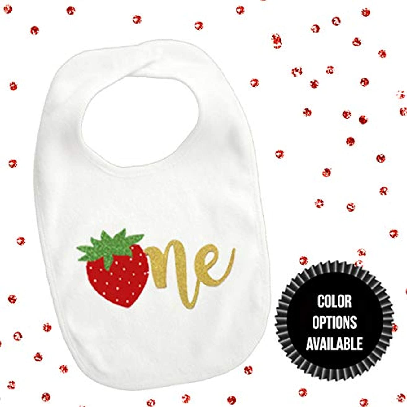 1 piece strawberry one bib toddler girl for first birthday summer fruit tutti fruity cake smash photo prop