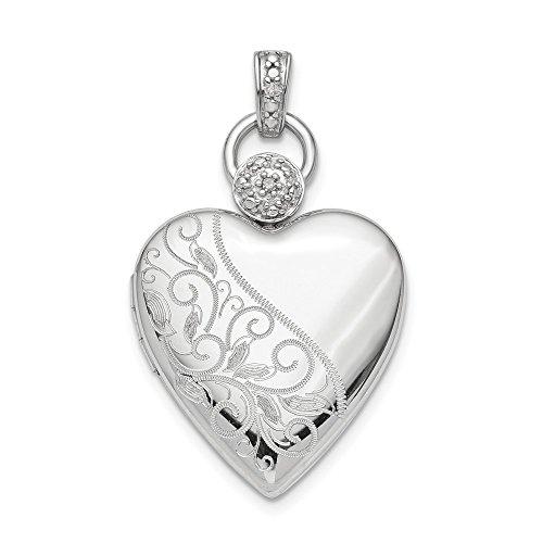 925 Sterling Silver 21mm Heart Diam…