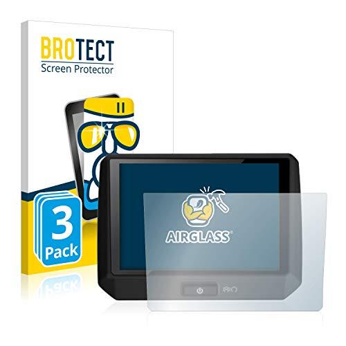 BROTECT Panzerglas Schutzfolie kompatibel mit Flyer Bildschirm D1 (3 Stück) - AirGlass, extrem Kratzfest, Anti-Fingerprint, Ultra-transparent