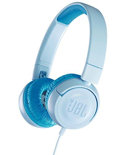JBL JR300 子供向け ヘッドホン 音量制御機能搭載/カスタマイズシール付属 クリアブルー JBLJR300BLU 【国...