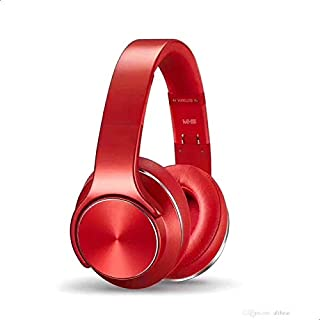 Sodo MH5 Bluetooth 4.2 Wireless Headphone Twist out Speaker 2 in 1 Support NFC, FM Radio, TF Card And Audio In - Red Silver