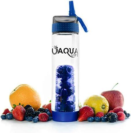 Aqua Life Fruit Infuser Water Bottle 25 oz BPA Free Tritan Plastic Sports Bottle with Straw product image