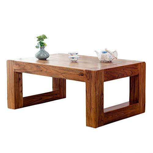 FFF8 Kleiner Tisch aus massivem Holz Tatami Couchtisch Buchtisch Tisch japanischer Massivholztisch Zen Tee Kleiner Tisch Balkon Kleiner Tisch Massivholztisch (Color : 60X40X30CM)