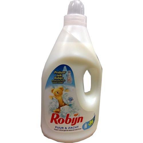 Robijn wasverzachter hypoallergeen 'puur zacht' 4000 ml fles (puur zacht)