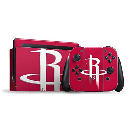 Skinit Decal Gaming Skin Compatible with Nintendo Switch Bundle - Officially Licensed NBA Houston Rockets Large Logo Design