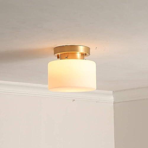MQW Simple LED moderne cylindrique blanc jaune source de lumière cuivre + verre chambre salon couloir restaurant étude lustre plafonnier lampe Embellir la vie